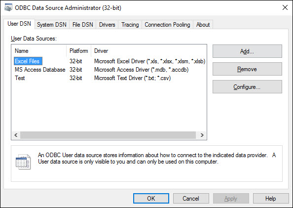 Connecting to Excel DSN setup - ClicData - Docs