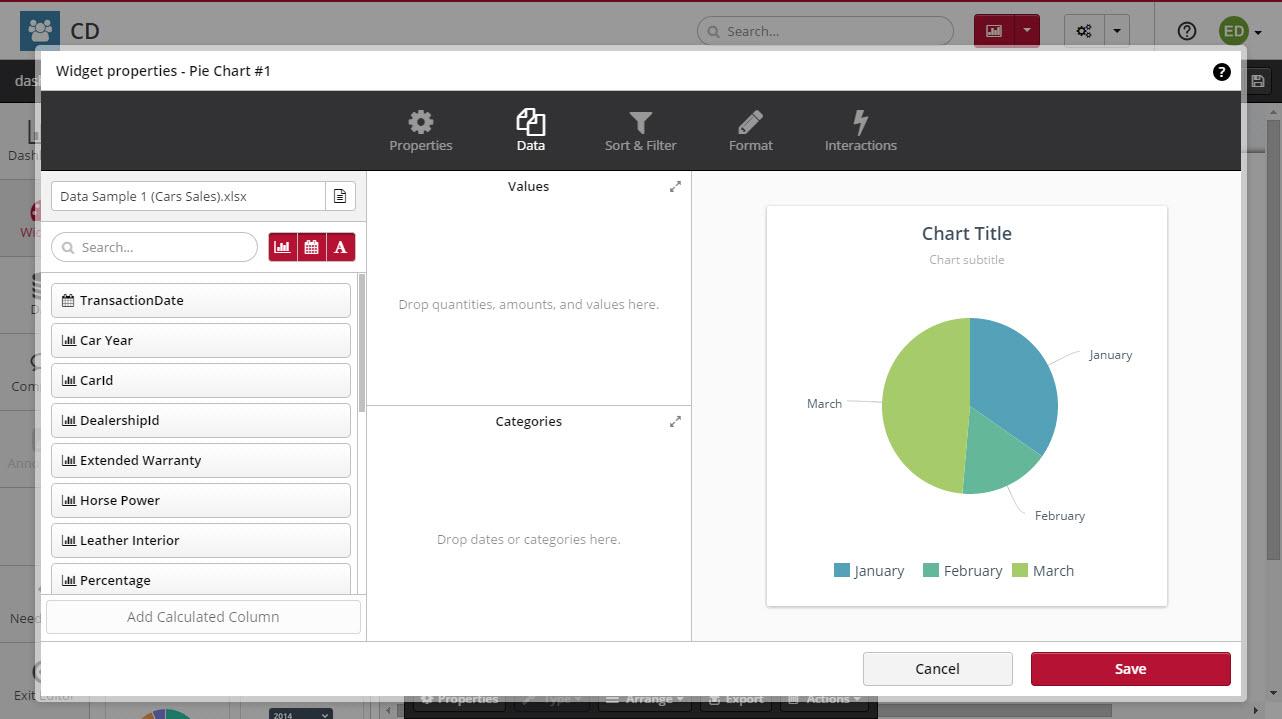 Pie Chart Clicdata Docs