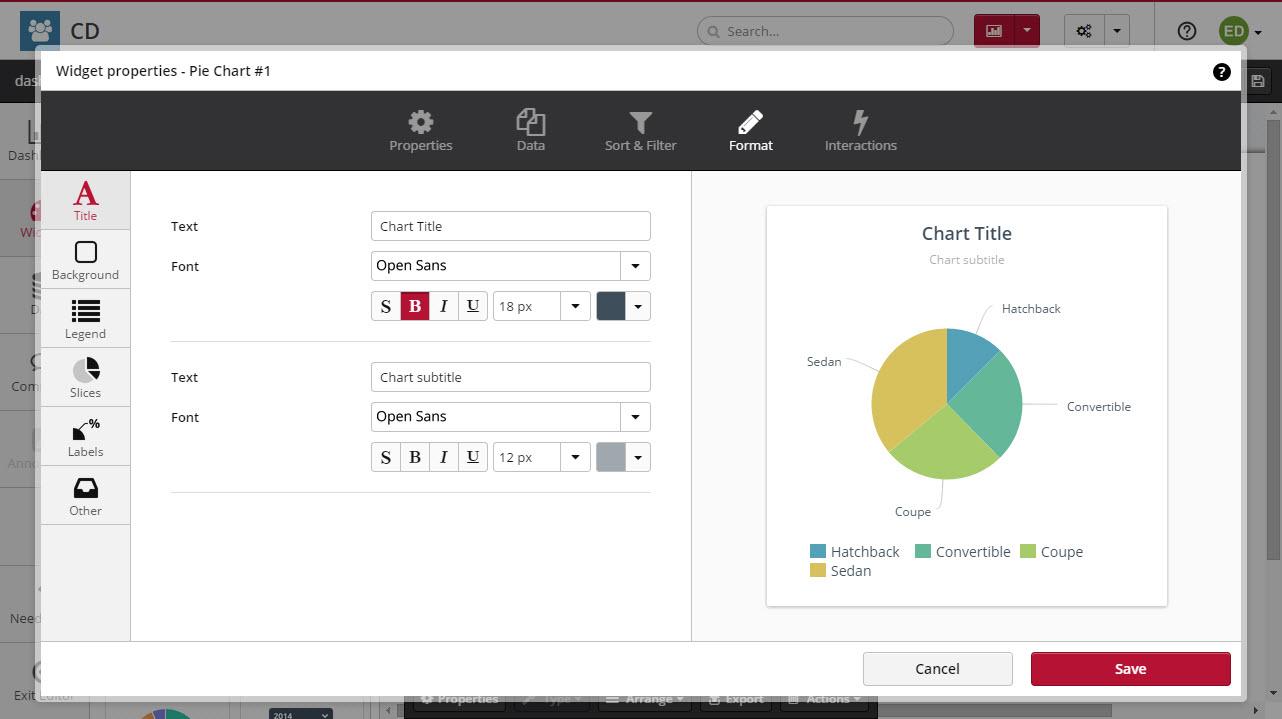 Pie chart clicdata docs interaction geenschuldenfo Images