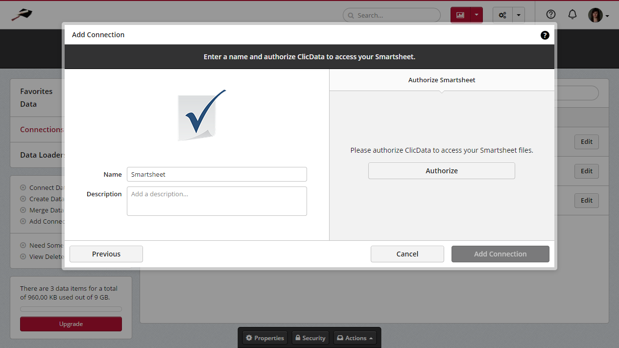 Smartsheet clicdata docs you have to click on authorize to allow clicdata to access your smartsheet account and import any data file you may need from there nvjuhfo Gallery